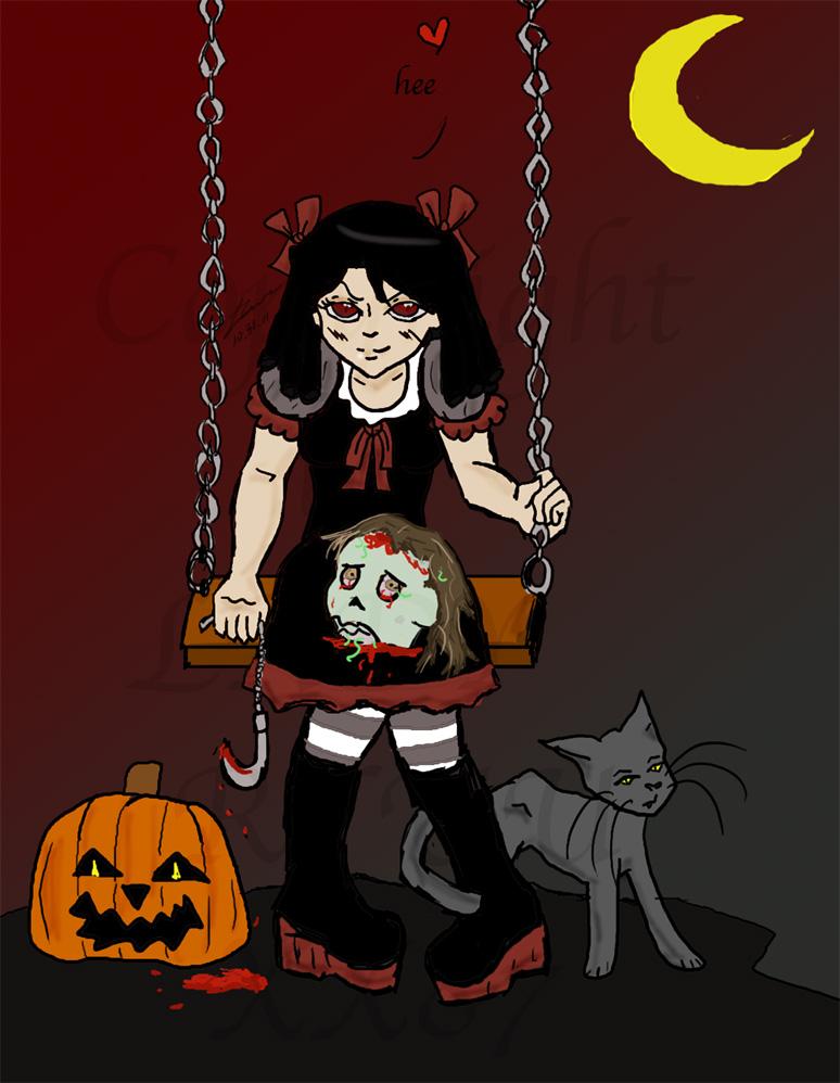 Demon girl- Happy Halloween by Lady-RyuuXX87