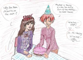 Celebration before returning to Hogwarts by Lady-RyuuXX87
