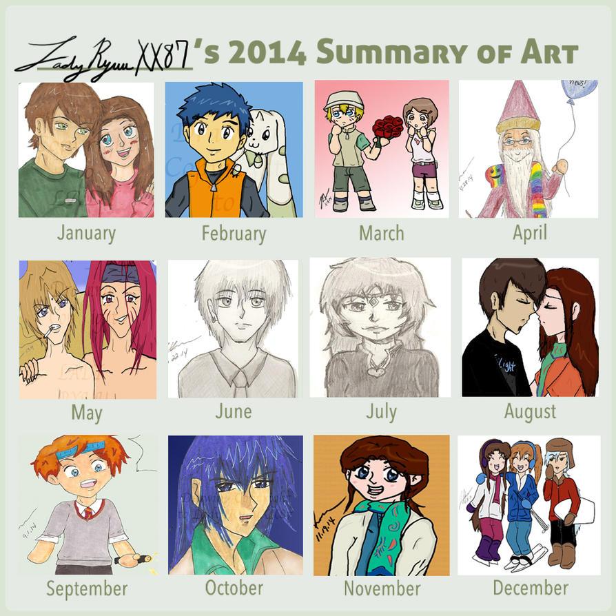 2014- Summary of Art by Lady-RyuuXX87
