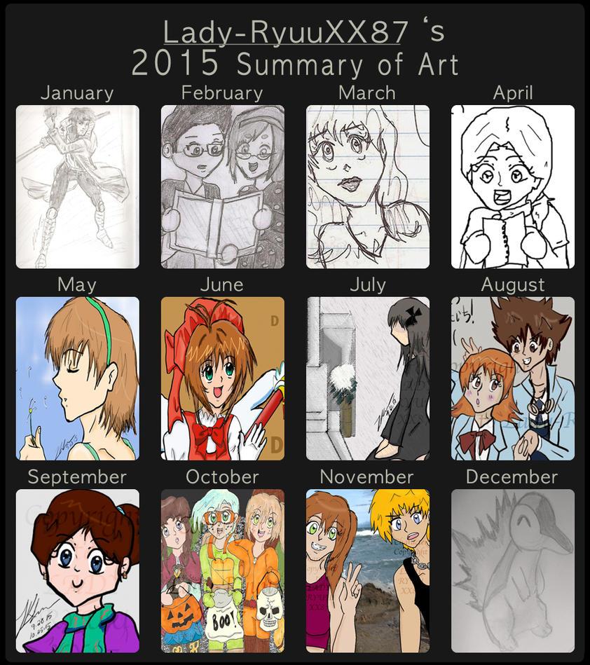 2015 - Summary of Art by Lady-RyuuXX87