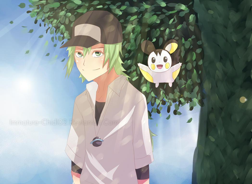 Pokemon Black- N by Immature-Child02