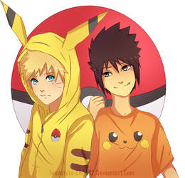 Naruto- Pokemon Cosplay by Immature-Child02
