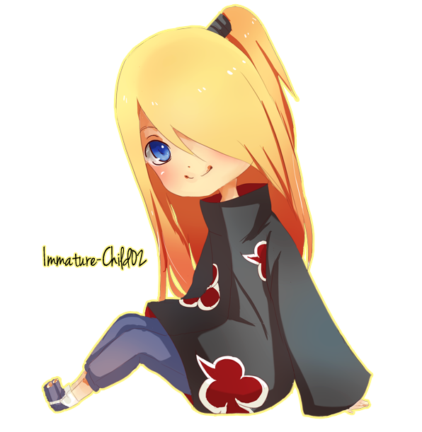 Chibi Deidara by Immature-Child02 on DeviantArt Deidara Cute