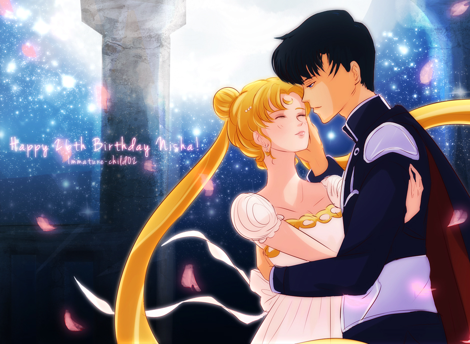 Usagi and Mamoru by Immature-Child02