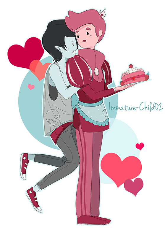 Marshall Lee and Prince Gumball- Distractions by Immature-Child02