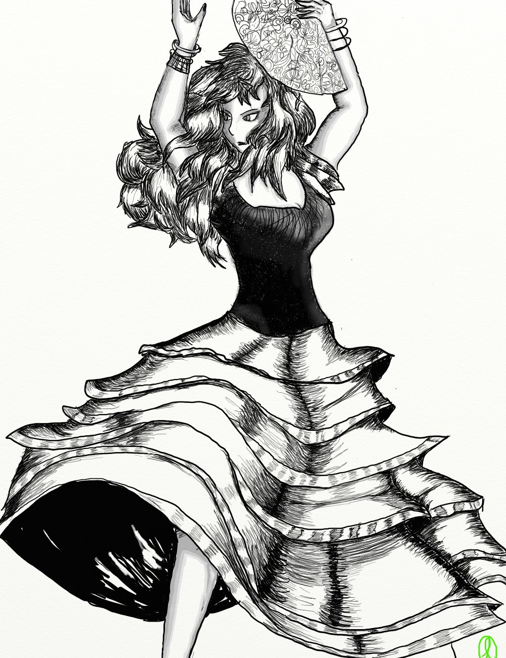 Danseuse de flamenco by lizzeldach on deviantart - Dessin danseuse de flamenco ...
