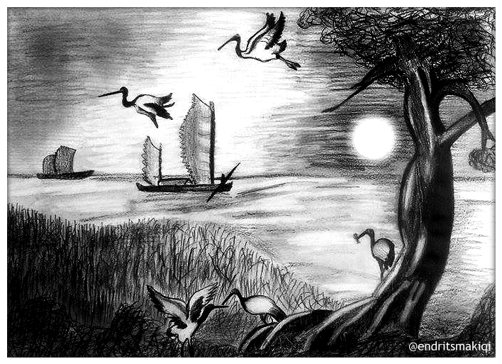 Nature pencil drawing by endritsmakiqiart