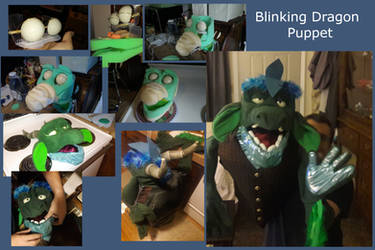 Blinking Dragon Puppet by adamwparsons
