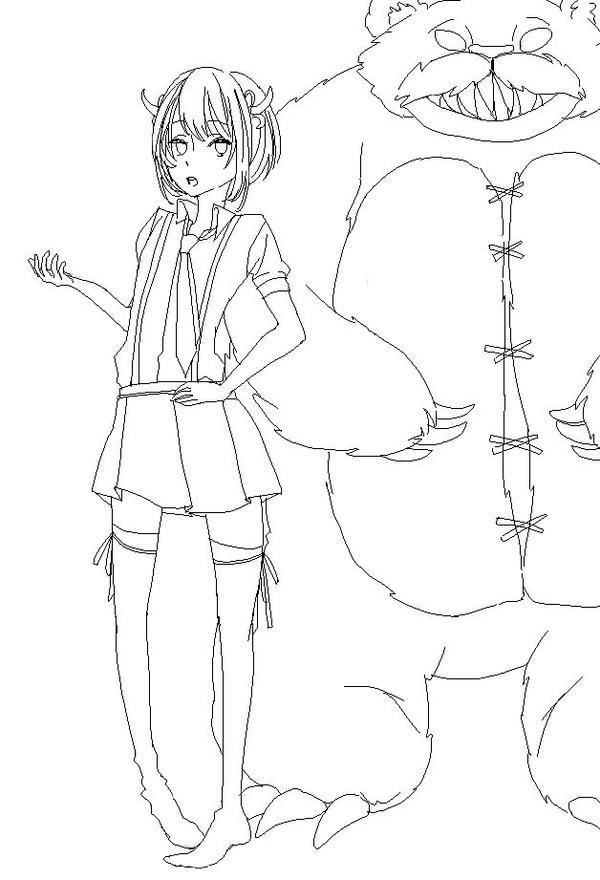 Annie Lineart by otaku160