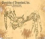 Steampunk Mechanical Spider Concept Art