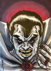 Dracula Sketch Card by aldoggartist2004