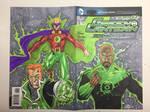 Green Lantern Sketch Cover by aldoggartist2004