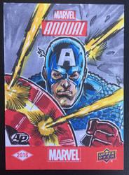 Upper Deck Marvel Captain America Sketch Card by aldoggartist2004