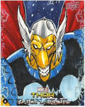 Beta Ray Bill Thor Ragnarok Sketch Card by aldoggartist2004