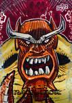 Mangog Thor Ragnarok Sketch Card by aldoggartist2004