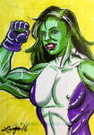 She Hulk Sketch Card