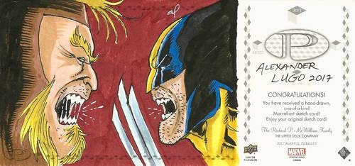 Wolverine Sketch Card 2 (Other side) by aldoggartist2004
