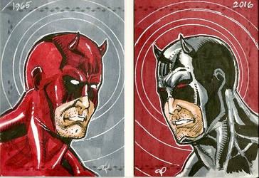 Daredevil 2-up Sketch Card by aldoggartist2004