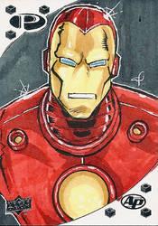 Iron Man Sketch Card by aldoggartist2004