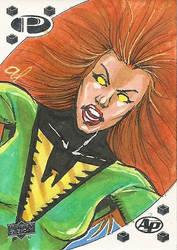 Jean Grey Phoenix Sketch Card by aldoggartist2004