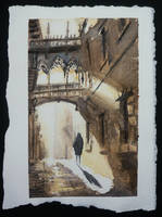 Gothic Barcelona Watercolor by RafaCM
