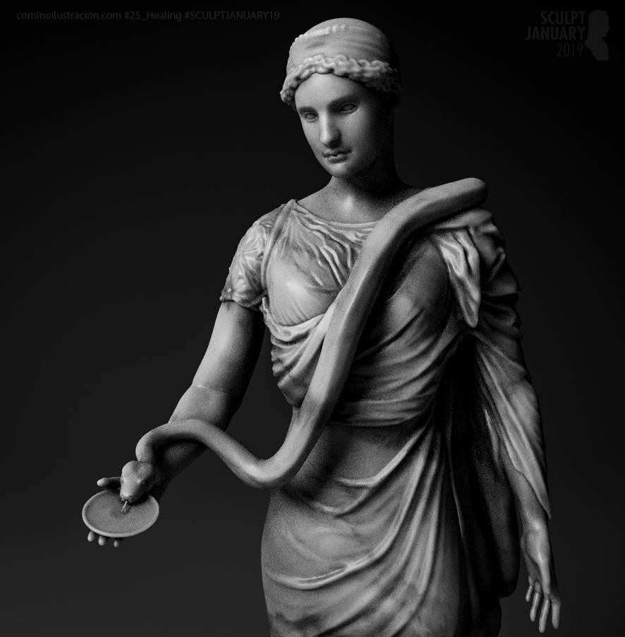 Sculpt January 2019 Day 25 Healing by RafaCM