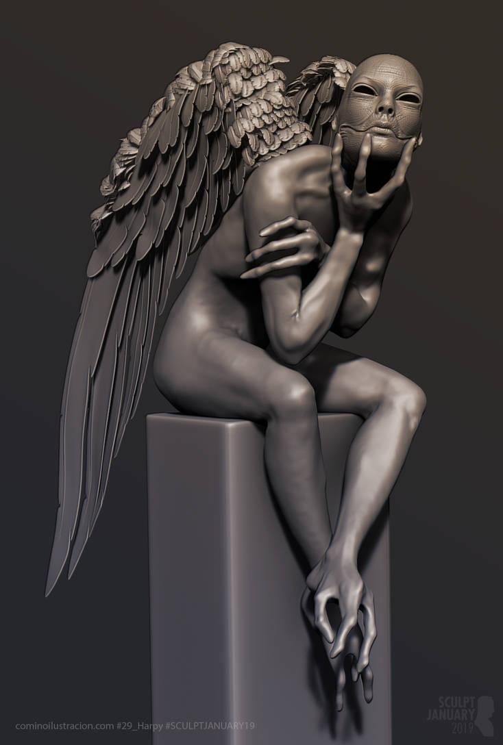 Sculpt January 2019 Day 29 Harpy by RafaCM