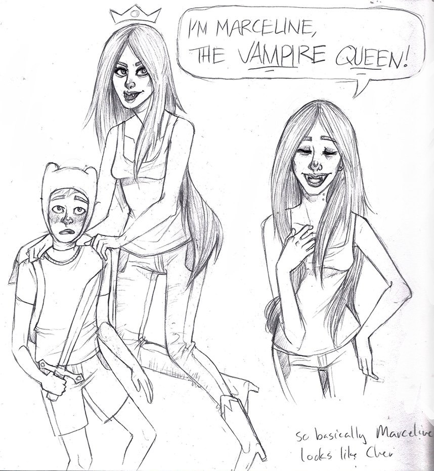 Marceline the Vampire Queen by KaminaX