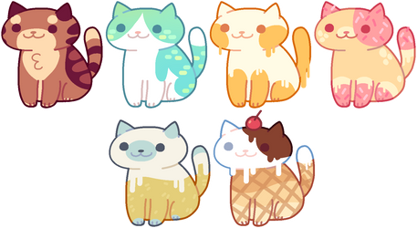 [CLOSED!] Neko Atsume Adoptables #2 by witchie-pie