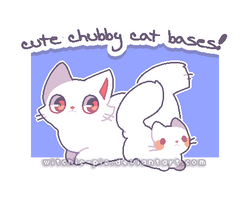 [ P2U BASE ] Cute Chubby Cat Bases! by witchie-pie