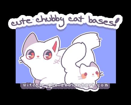 [ P2U BASE ] Cute Chubby Cat Bases!
