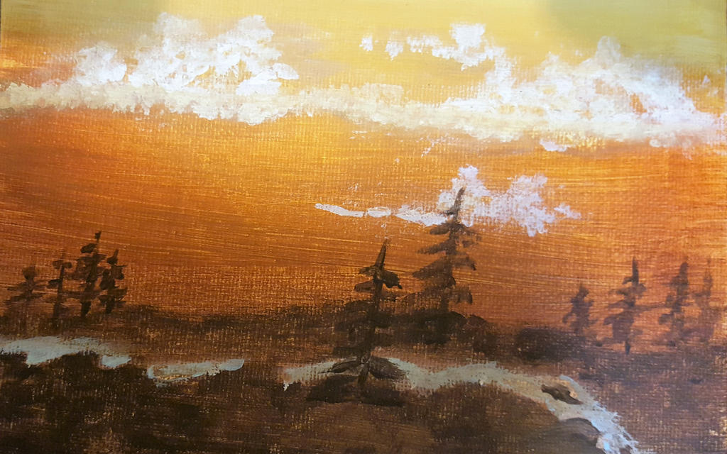 Acrylic Painting 11 by sasjhwa
