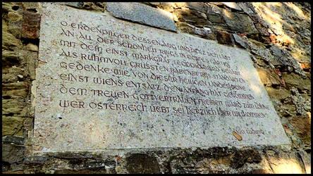 CommemorativePlaque,Margrave Leopold,Leopoldsberg
