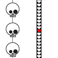 Red Heart Skull by iceblulady