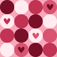 Pink Dots Heart by iceblulady