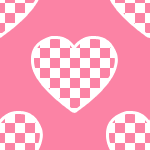 Pink Checkered Heart by iceblulady