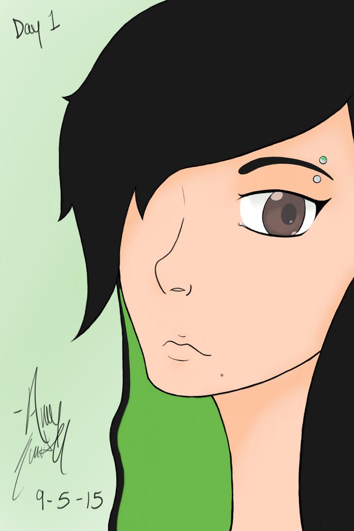 Day 1 - Draw Yourself by Amii-Bear