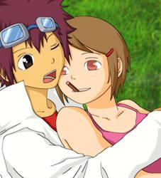 Daisuke and Hikari by X-Ray99