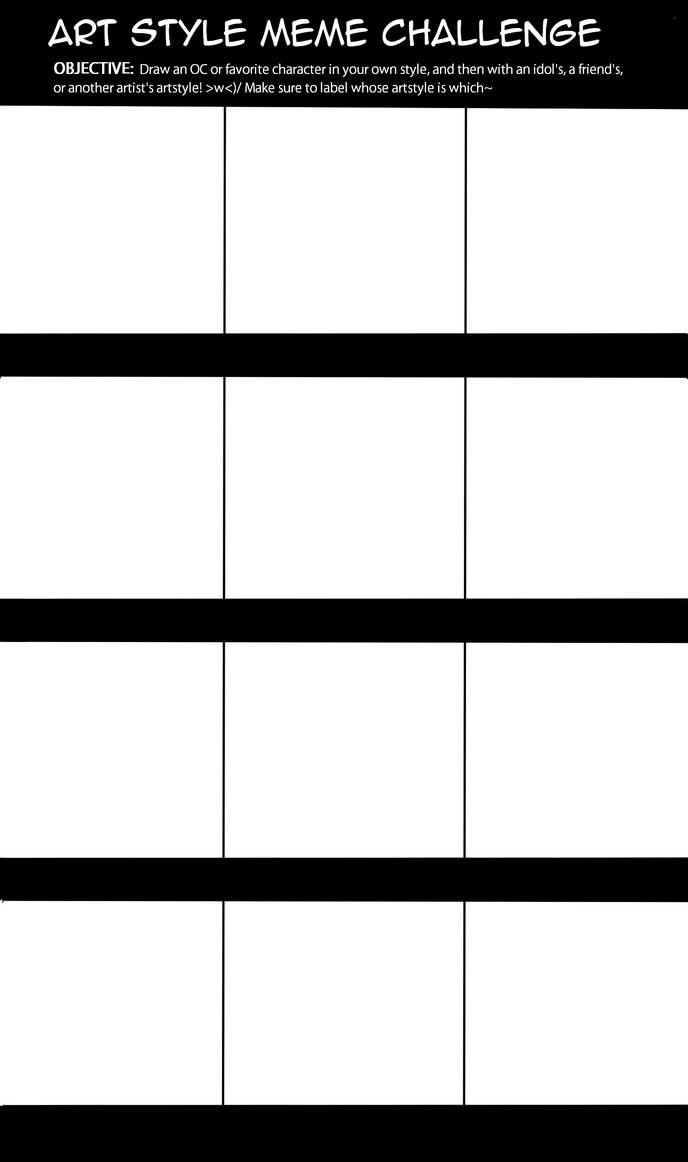Blank Art Style Meme Challenge Template By Marchedemorce On Deviantart
