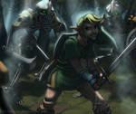 Link vs. Three Stalfos Knights