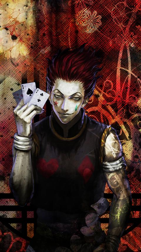 Phone background - HxH Hisoka2 by Maykka