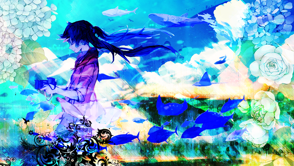 Vita Main Screen - Blue Pictures by Maykka