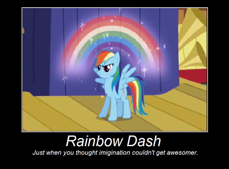 Rainbow Dash Poster by IIbukiMioda