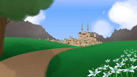 Castle Road Background by MappyMaples