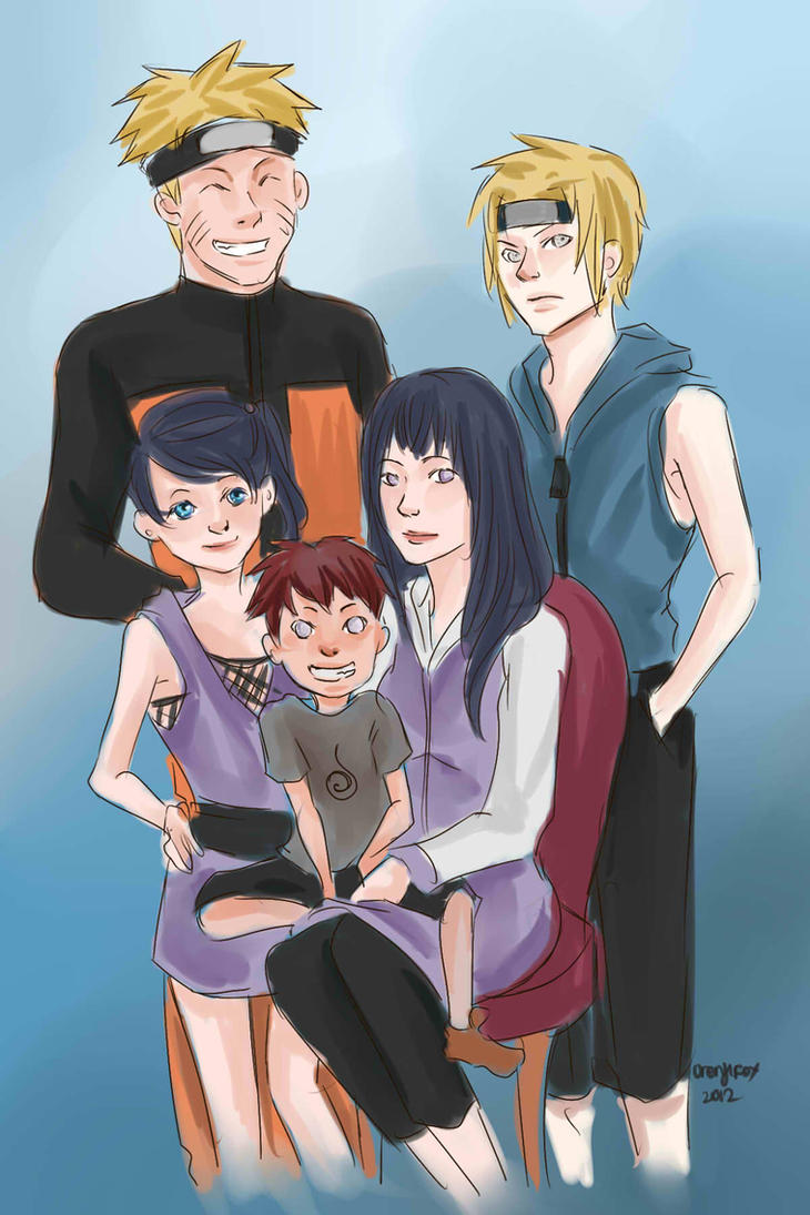naruhina family portrait by nikky93