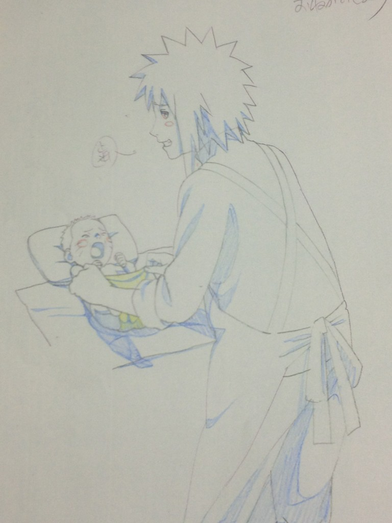 naruto and minato  from road to ninja movie by nikky93