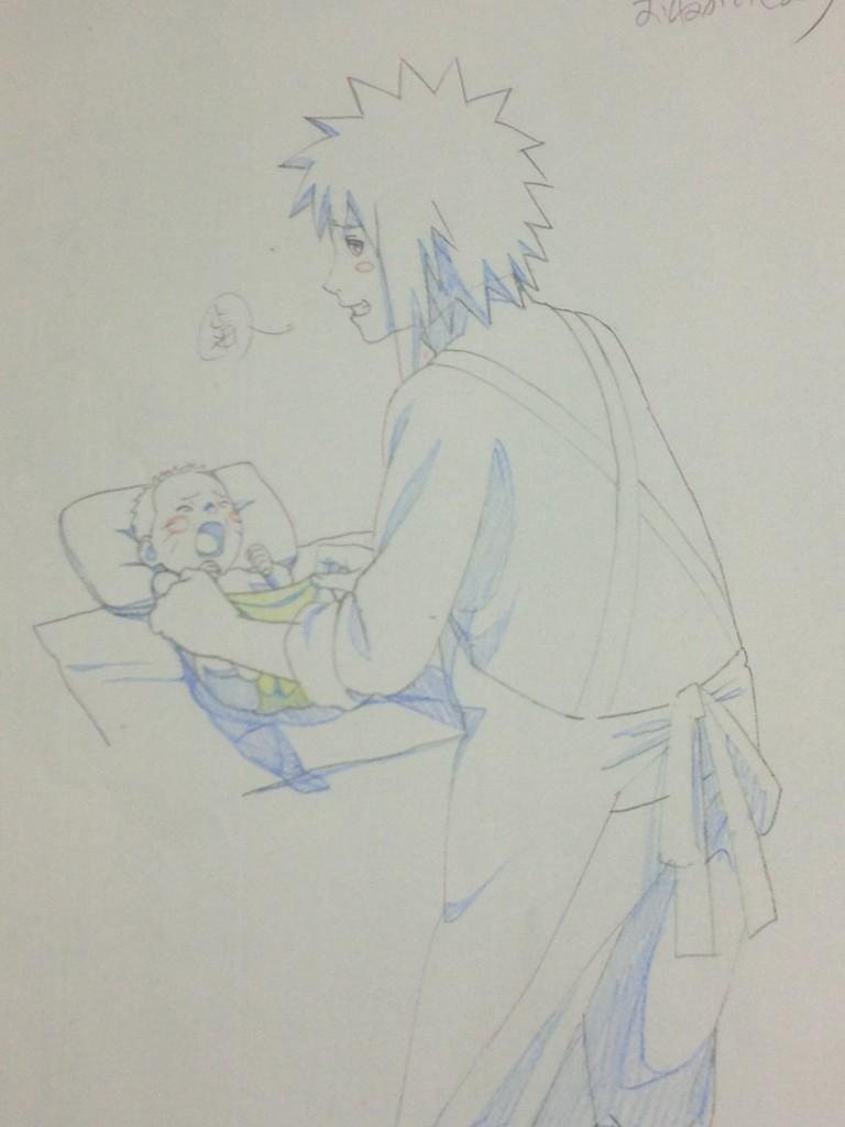 naruto and minato  from road to ninja movie by nikky93