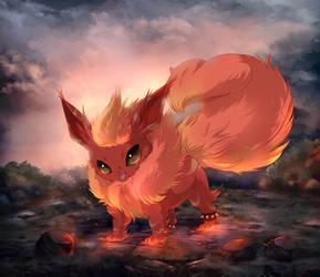 A fiery storm