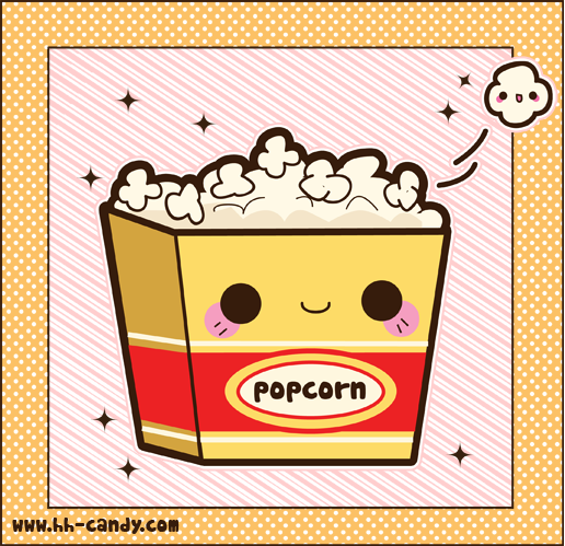 Popcorn Wallpaper: Cute Popcorn By Ddder0 On DeviantArt