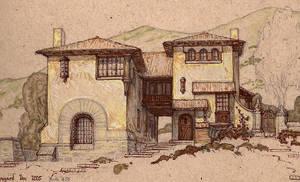 Mediterranean Hillside House